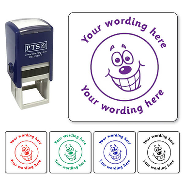 Personalised Happy Face Stamper (25mm)
