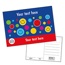 Personalised Happy faces Postcard (A6)