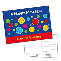Personalised Happy faces Postcard (A6 in size)