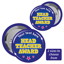 Personalised Head Teacher Award Badges x 10