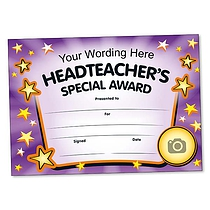 Personalised Headteacher's Special Award Certificate (A5) Brainwaves