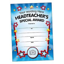 Personalised Headteacher's Special Award Certificate (A5) Brainwaves