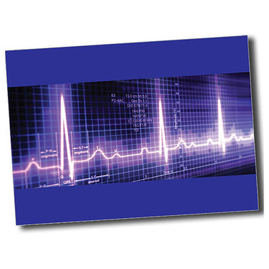 Personalised Heartbeat Postcard - Blue (A6)