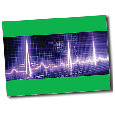 Personalised Heartbeat Postcard - Green (A6)