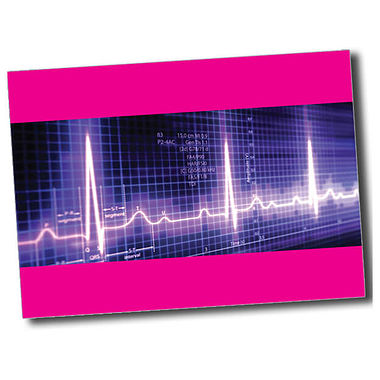 Personalised Heartbeat Postcard - Pink (A6)