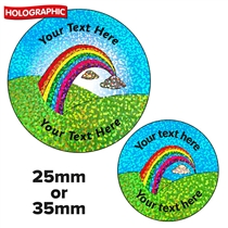 Personalised Holographic Rainbow Stickers