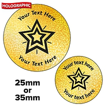 Personalised Holographic Star Stickers