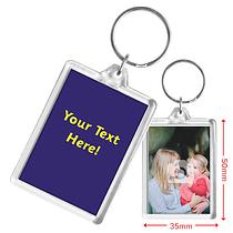 Personalised Image & Text Acrylic Keyring