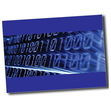 Personalised IT Postcard - Blue (A6)
