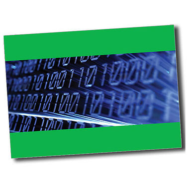 Personalised IT Postcard - Green (A6)