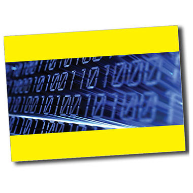 Personalised IT Postcard - Yellow (A6)
