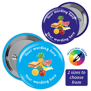 Personalised Lunch Badges (10 Badges)