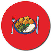 Personalised Lunchtime Stickers (35 per sheet - 37mm)