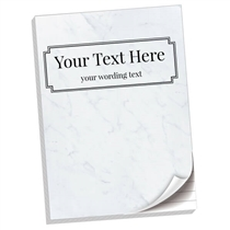 Personalised Marbled Notepad (A4, 50 Page, Lined)