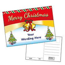 Personalised Merry Christmas Postcard (A6)