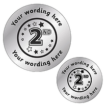 Personalised Metallic 2nd Stickers - Silver