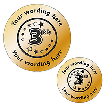 Personalised Metallic 3rd Stickers - Bronze