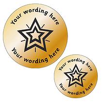 Personalised Metallic Bronze Star Stickers