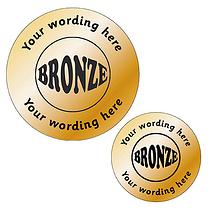 Personalised Metallic Bronze Stickers