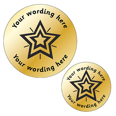Personalised Metallic Gold Star Stickers
