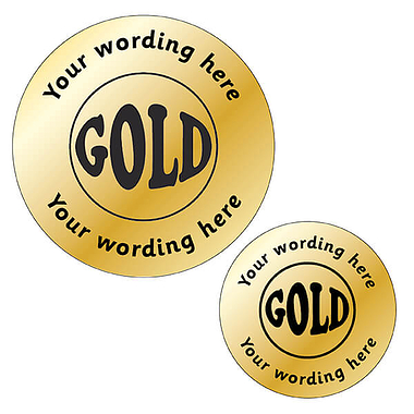 Personalised Metallic Gold Stickers