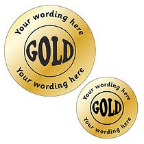 Personalised Metallic Gold Stickers