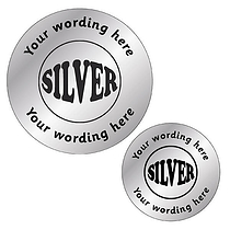 Personalised Metallic Silver Stickers