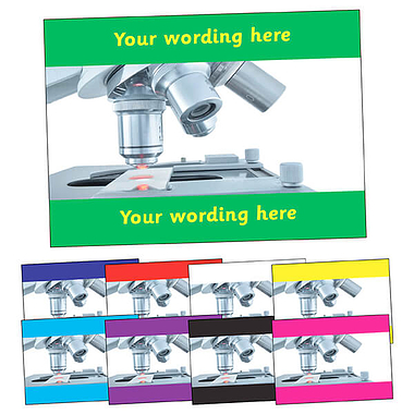 Personalised Microscope Postcard (A6)