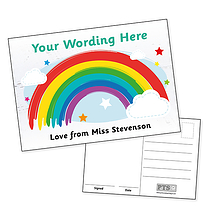 PERSONALISED 'Missing You' Rainbow Postcard (A6)