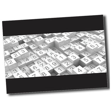 Personalised Numbers Postcard - Black (A6)