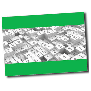 Personalised Numbers Postcard - Green (A6)