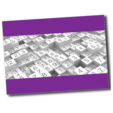 Personalised Numbers Postcard - Purple (A6)