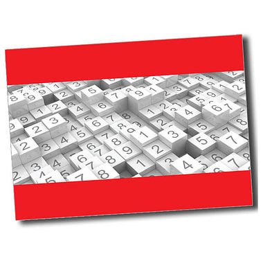Personalised Numbers Postcard - Red (A6)
