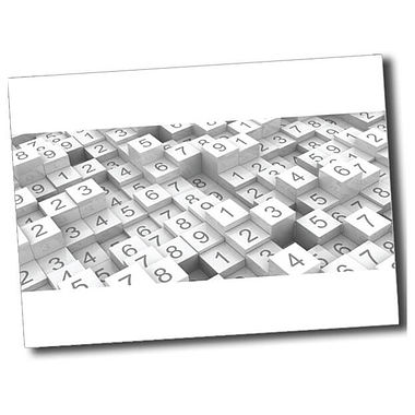 Personalised Numbers Postcard - White (A6)