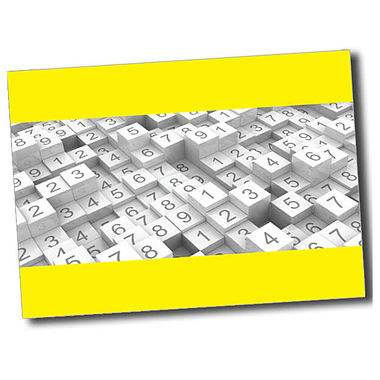 Personalised Numbers Postcard - Yellow (A6)