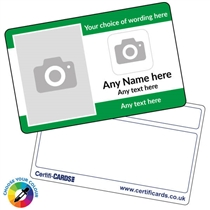 Personalised Picture & Logo Border Plastic Card (86mm x 54mm)