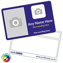 Personalised Picture & Logo ID Plastic Card(86mm x  54mm)