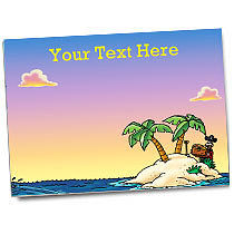 Personalised Pirate Island Sticker Collector Card (A5)