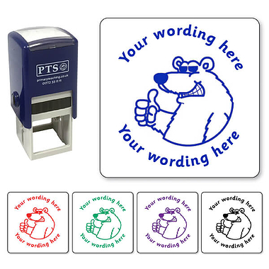 Personalised Polar Bear Stamper (25mm)