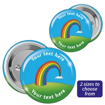 Personalised Rainbow Badges (10 Badges - 2 Sizes)