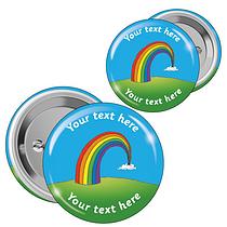 Personalised Rainbow Badges (10 Badges - 2 Sizes)
