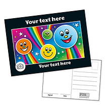 Personalised Rainbow Faces Postcard (A6)