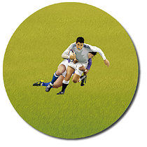 Personalised Rugby Stickers (35 per sheet - 37mm)