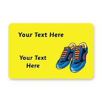 Personalised Running Shoe Stickers (32 per sheet - 46mm x 30mm)