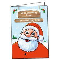 Personalised Santa Christmas Card (A5)