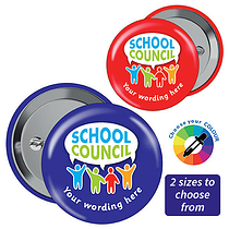 Personalised School Council Badges (10 Badges)