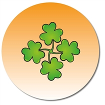 Personalised Shamrock Stickers (35 per sheet - 37mm)