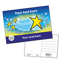 Personalised Shooting Star Postcard (A6)