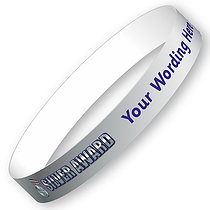 Personalised Silver Award Wristbands (5 per pack)