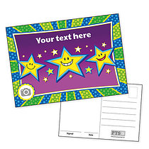 Personalised Smiley Stars Postcard (A6)